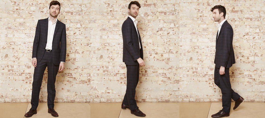 Tailored mens suit by Alis Le May