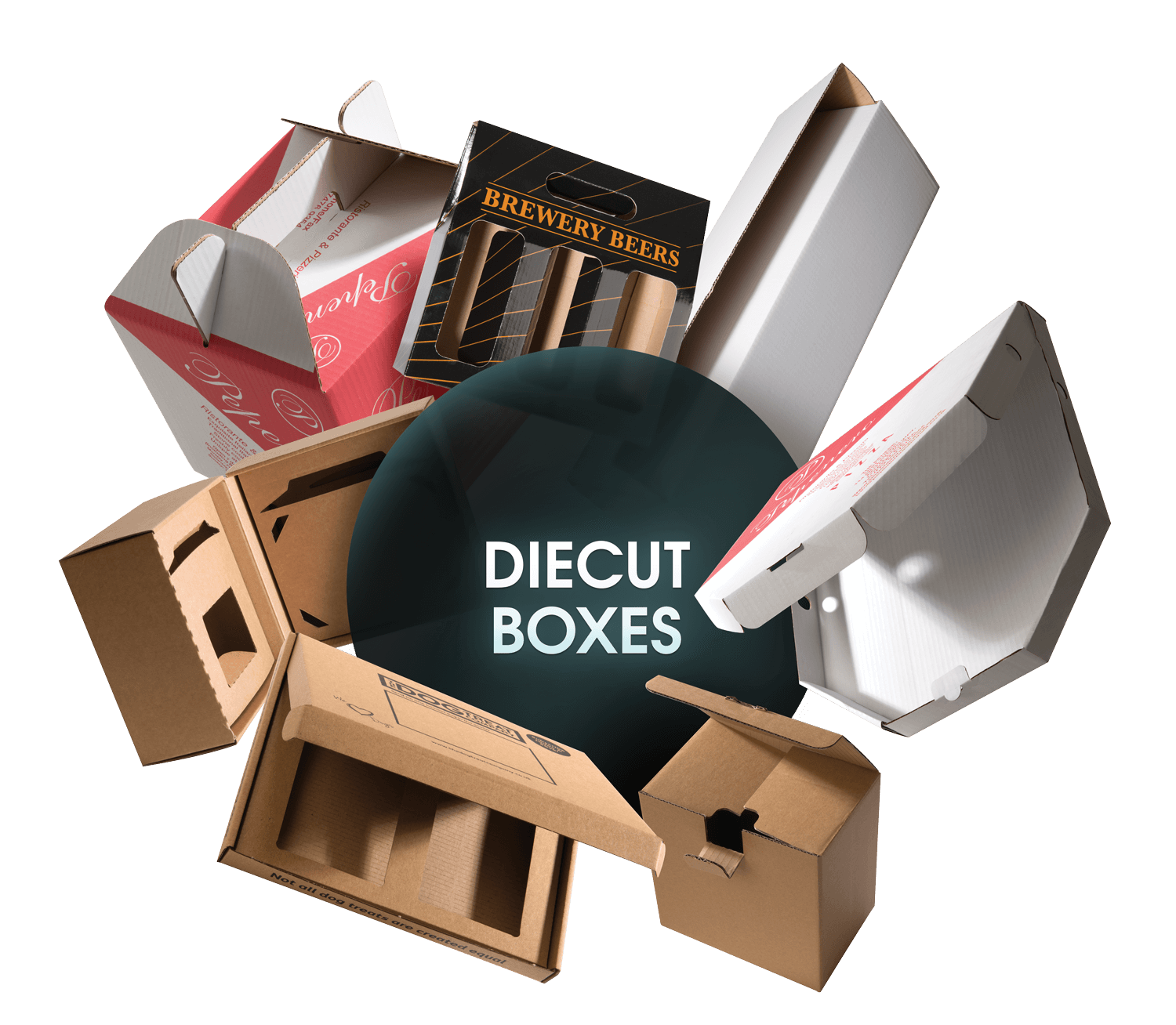 CORRUGATED Diecut Boxes