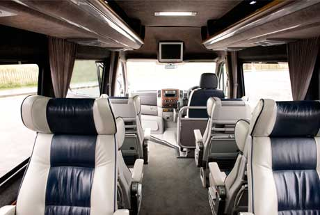 Luxurious interiors for your private transport