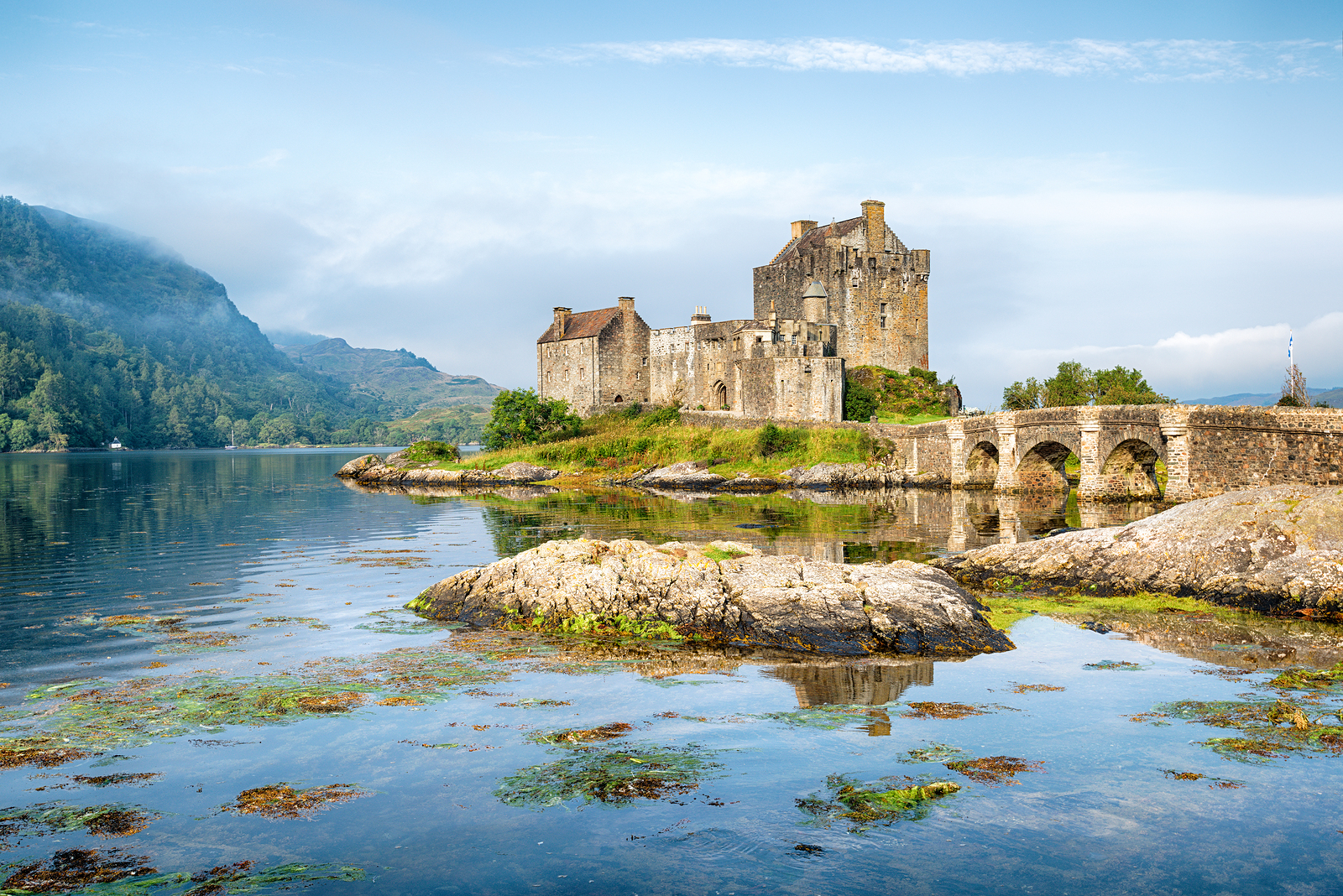 Visit Eilean Donnan Castle on the road to Skye