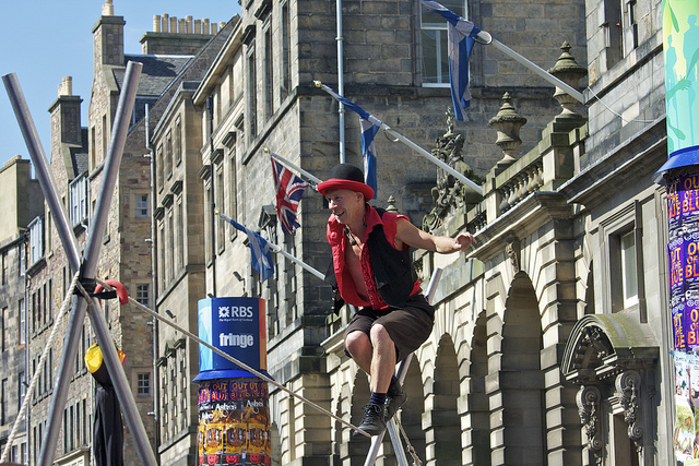 The world's largest celebration of the arts, the Fringe is a huge cultural event which runs for three weeks.