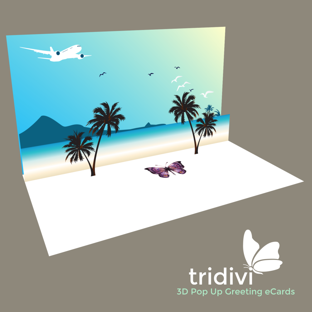 Summer day 3d Pop Up cards and ecards