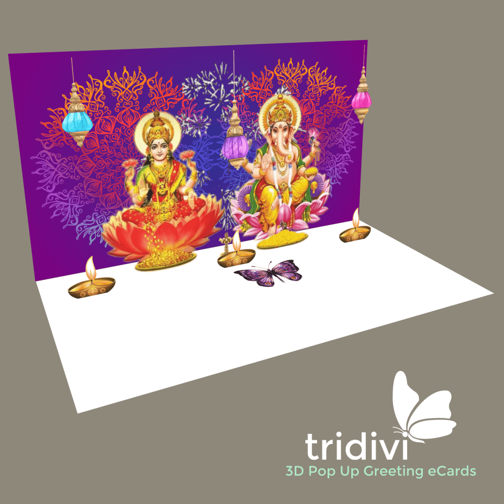 Diwali 3d Pop Up cards and ecards