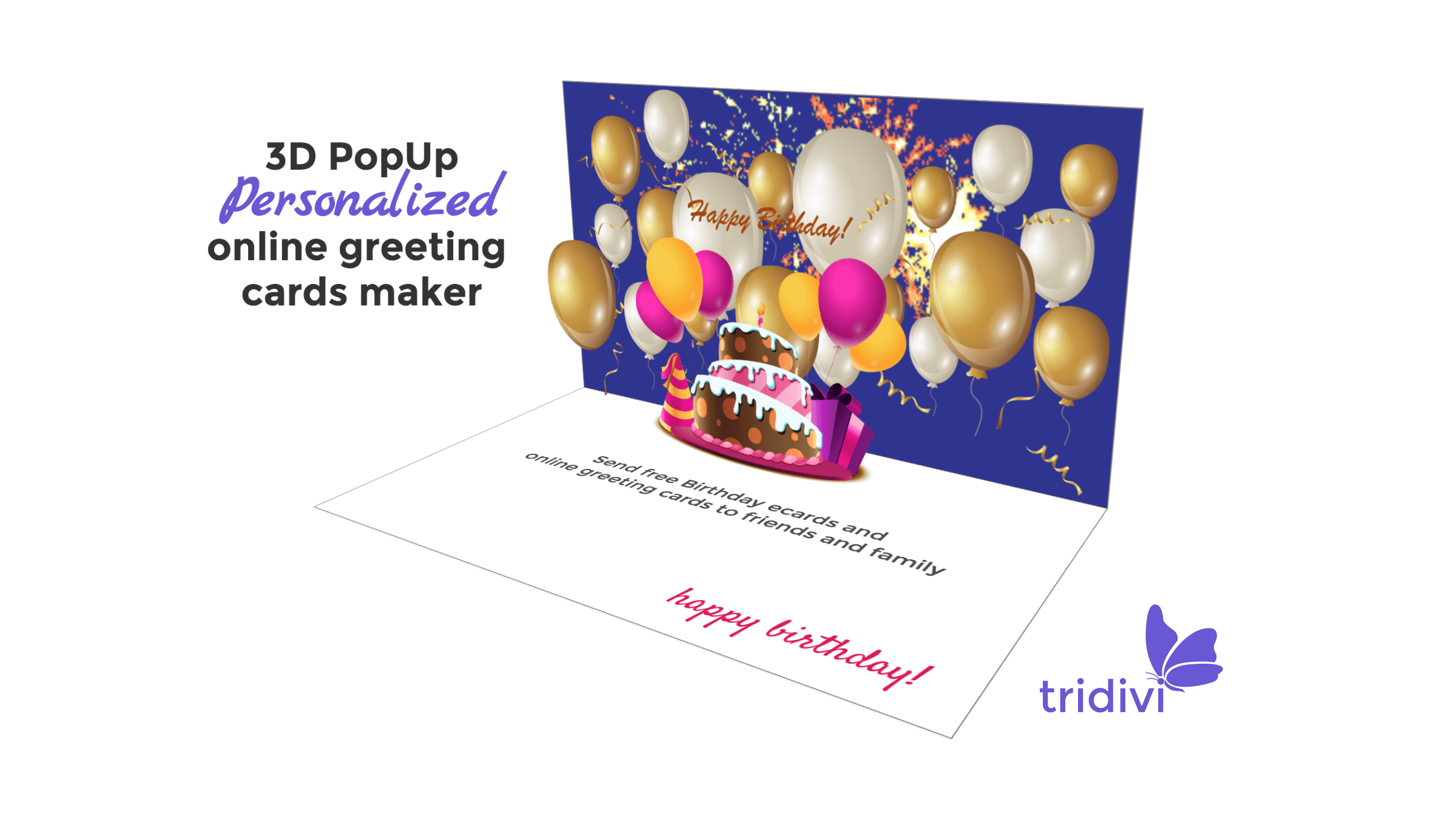 Free 3D Pop Up Online Greeting Card Maker - tridivi™
