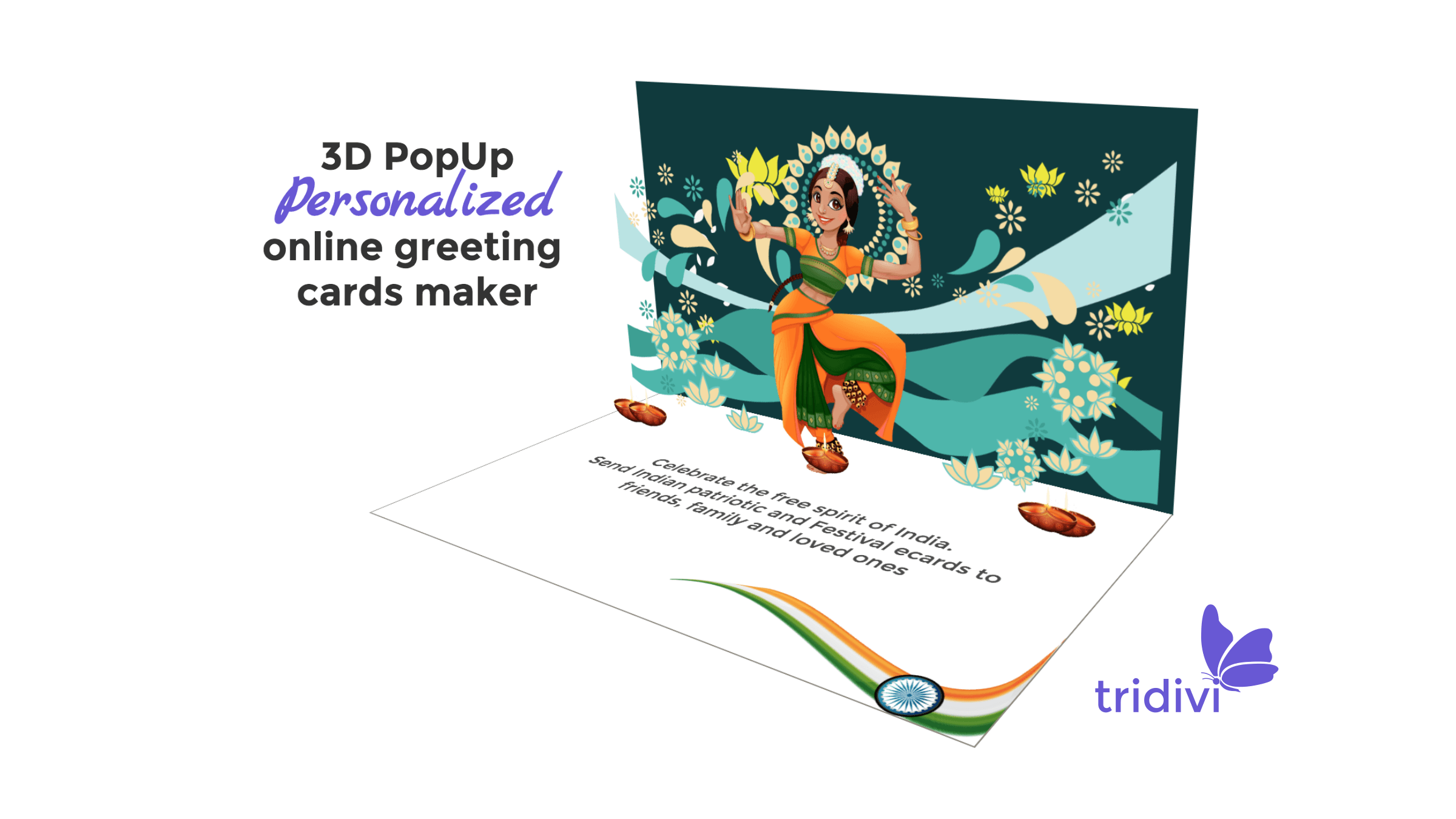 3d pop up indian ecards free indian patriotic and festival online cards - Free Online Greeting Card Maker