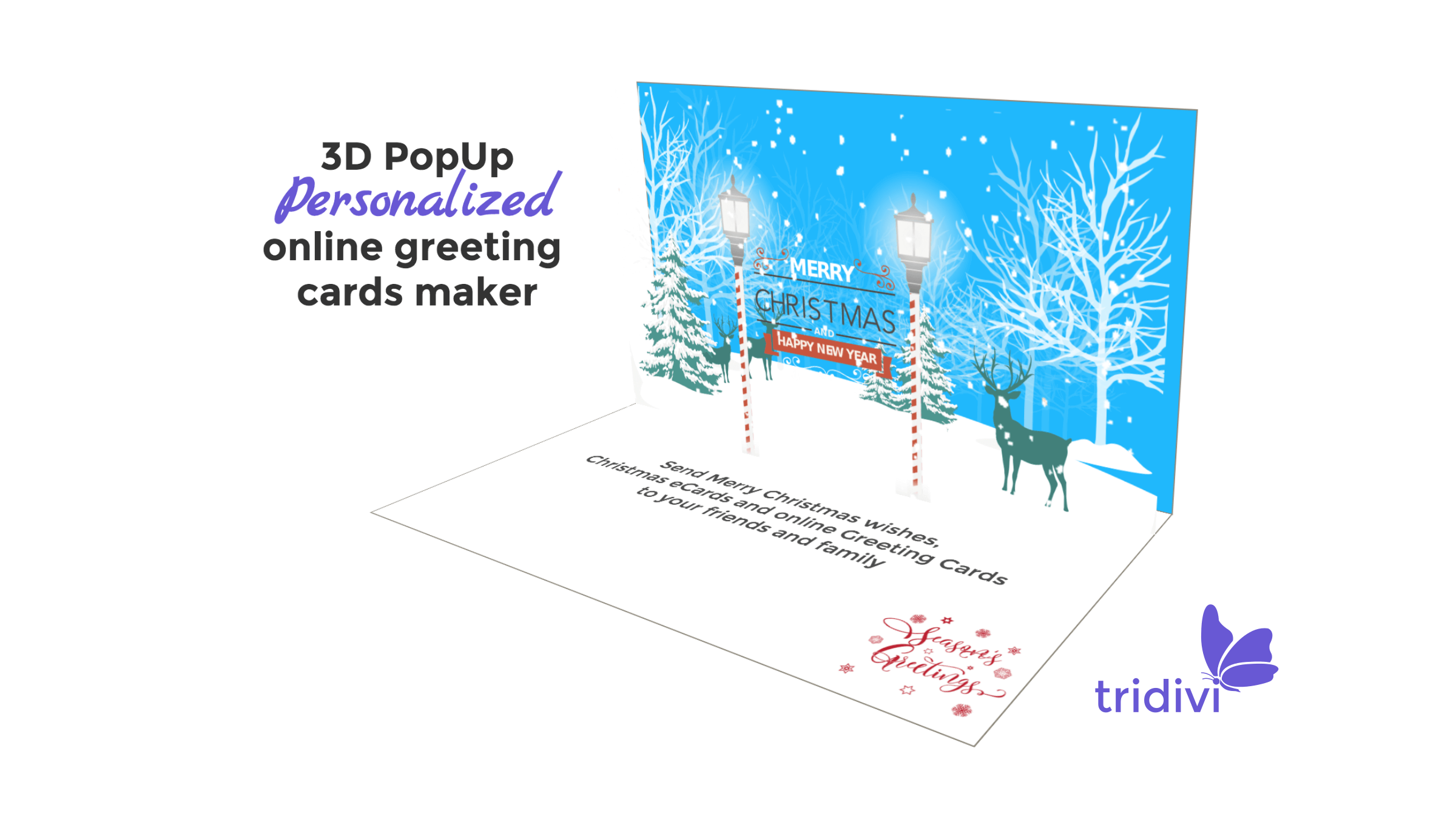 3D Pop Up Christmas greeting cards and ecards