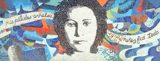 Foto de mosaico de Julia De Burgos, por Cero Design.