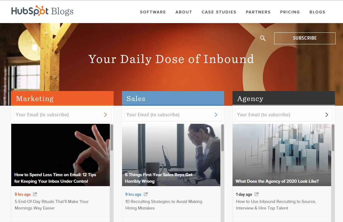 HupSpot Home Page