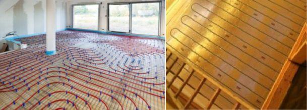 Calepinage plancher chauffant escargot vs serpentin