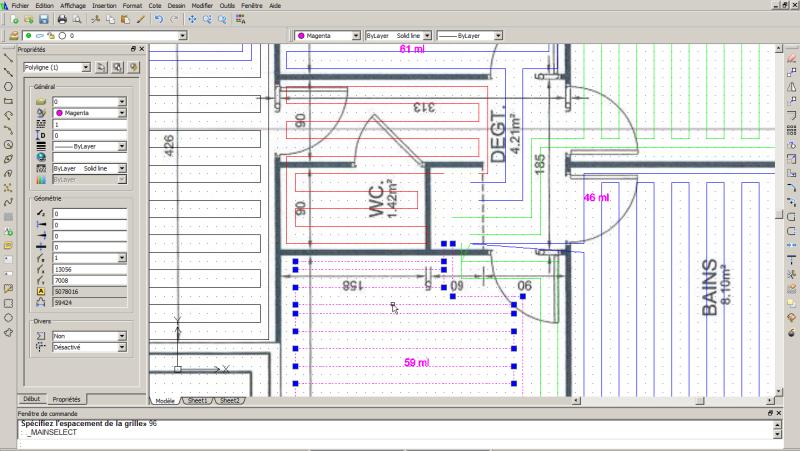 Vue du logiciel de calepinage par Caleosol