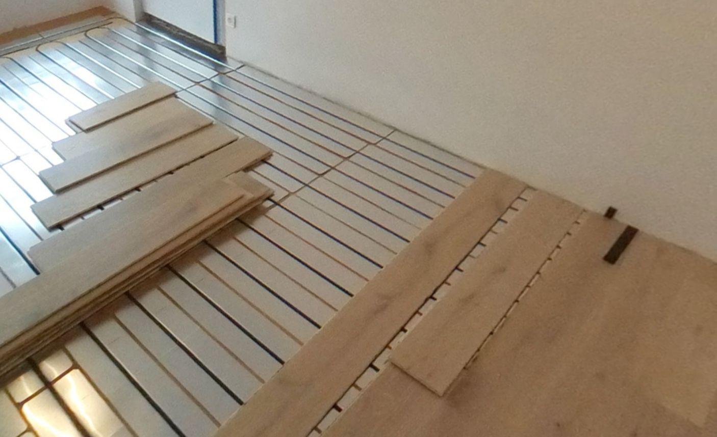 Pose directe de parquet sur plancher chauffant en rénovation