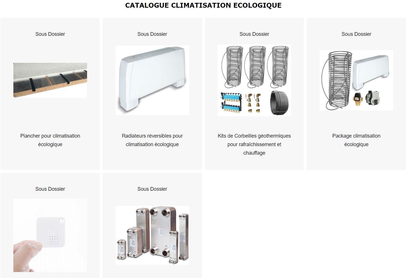 Catalogue de la climatisation écologique