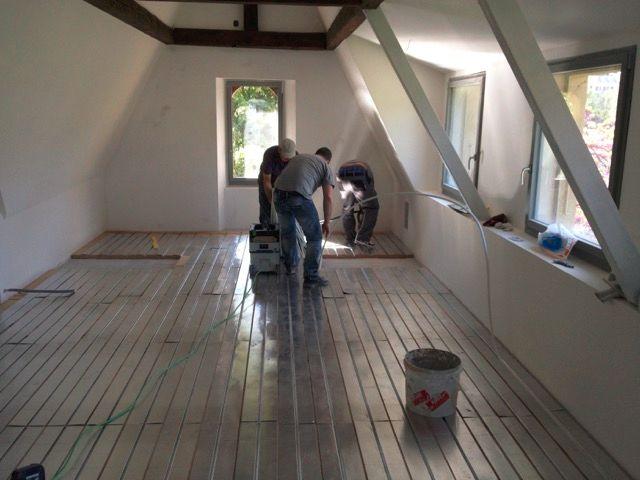pose - installation de plancher chauffant - chauffage au sol près de Vannes