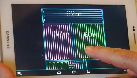 Calepinage sur tablette et téléphone portable