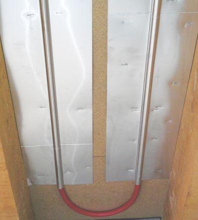 Pose plancher chauffant rénovation entre solives par le dessous