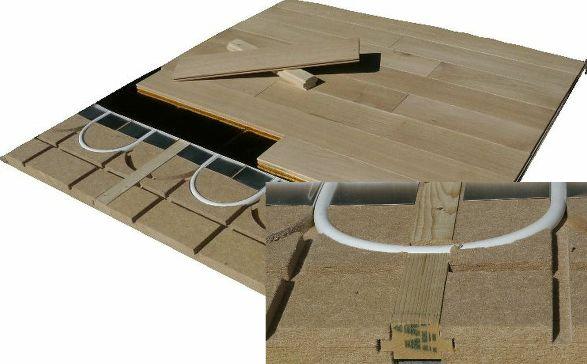 Pose plancher chauffant ECO plus pour parquet bois massif