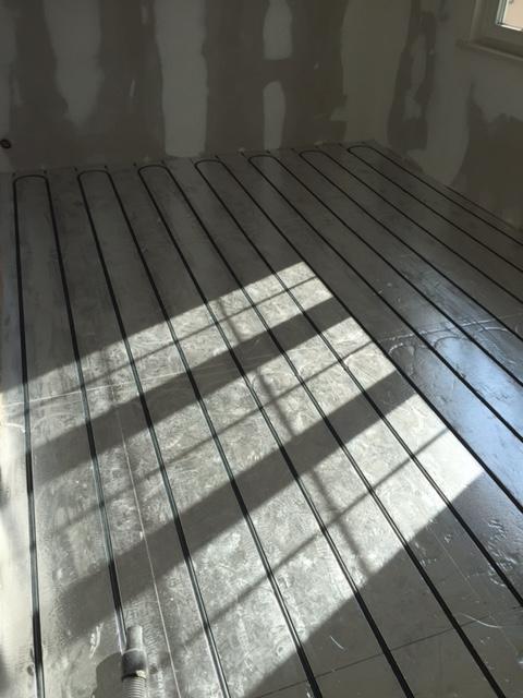 installation plancher chauffant hydraulique rénovation