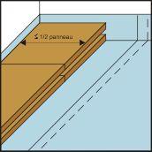 Pose premier panneau de plancher chauffant