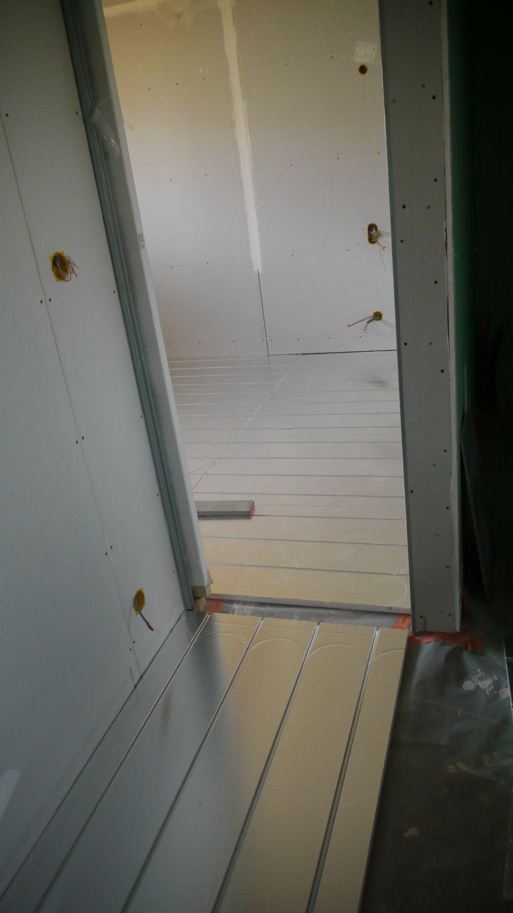 Pose plancher chauffant dans MOB