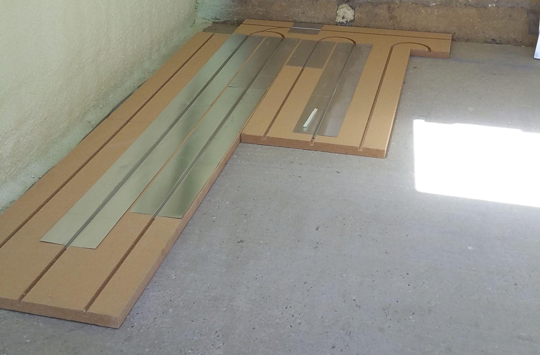 pose du plancher chauffant Caleosol ECO+ à Châteaudun et Morée