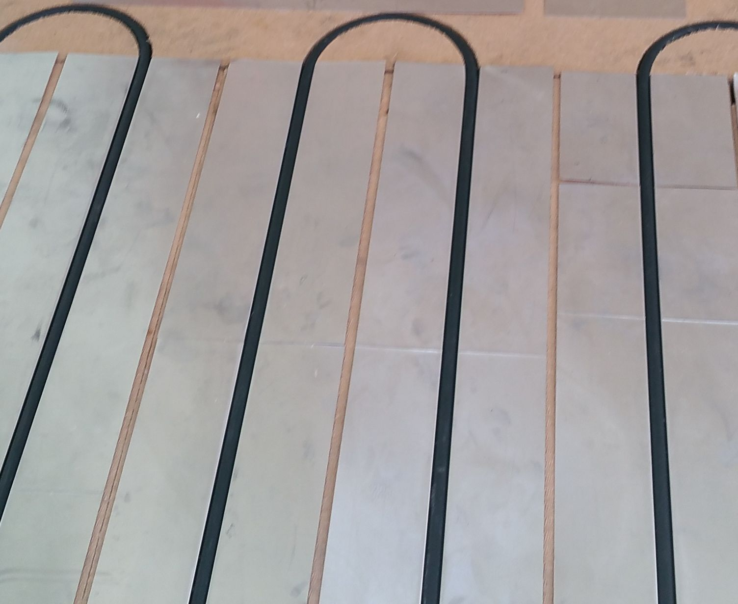 Rendu final du plancher chauffant réalisé par Eosol'R à Colmar