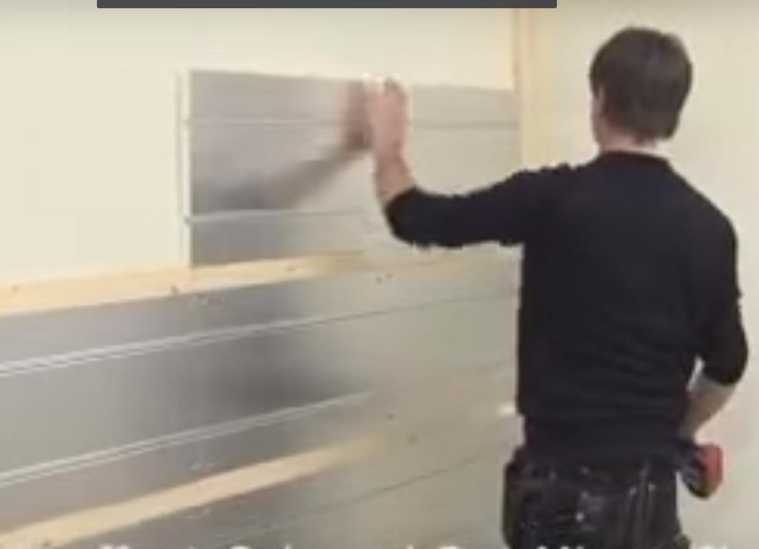 Mur chauffant placo plâtre