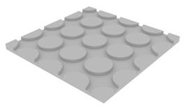 Mur chauffant masse : plaque courbe
