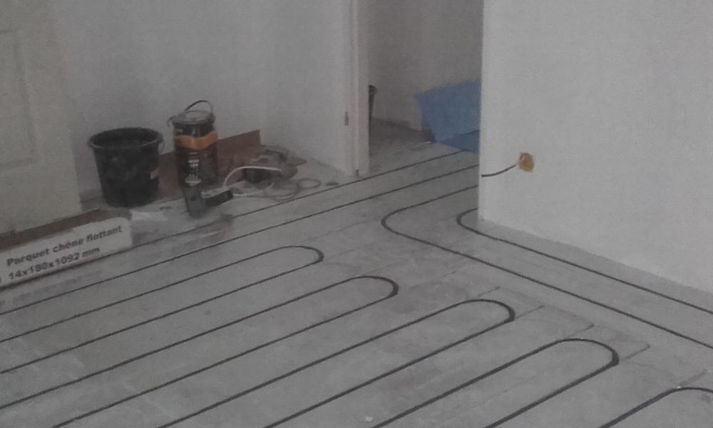 Pose plancher chauffant Marseille par Azur Gaz Energy