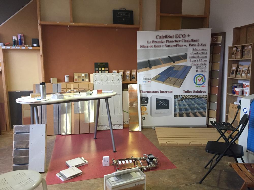 Espace dédié à la formation du plancher chauffant Caleosol à Clisson Nantes