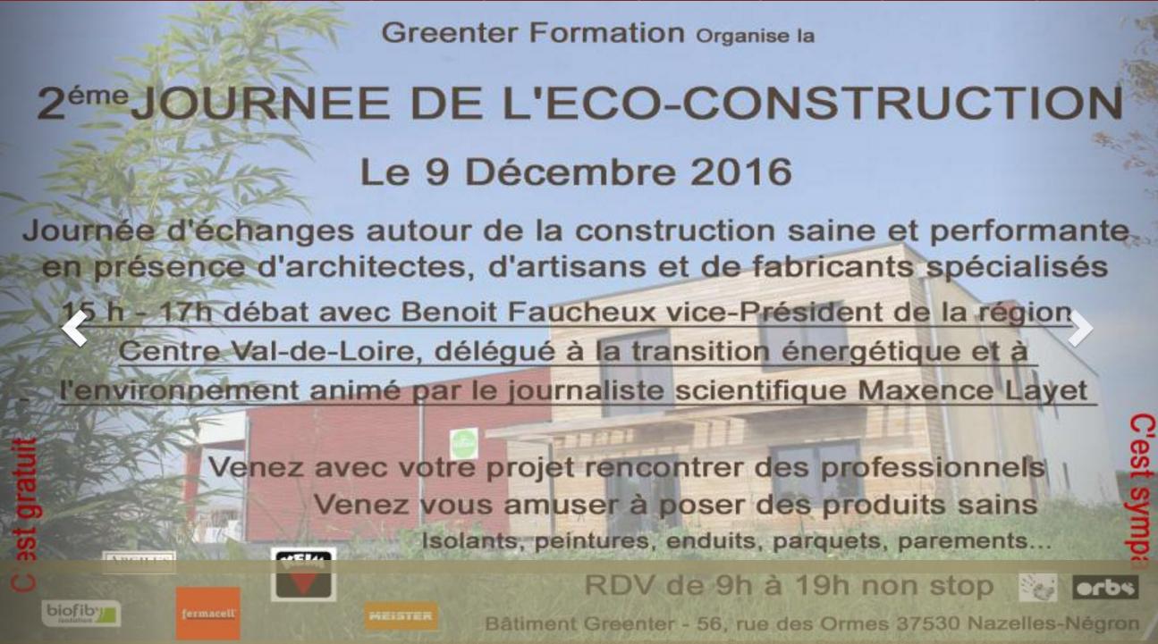 A2ME : journée portes ouvertes sur éco-construction 37 Tours - Amboise