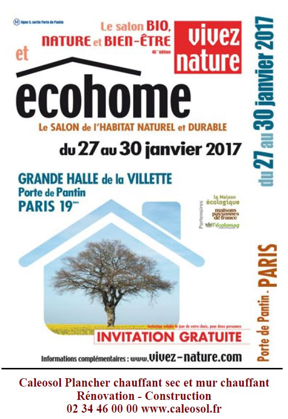 Invitation gratuite Ecohome 2017 Paris Porte de la Vilette