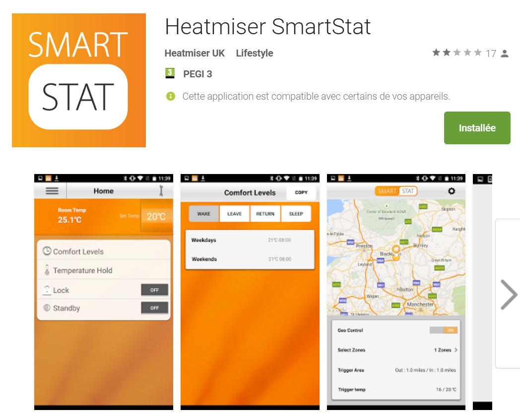 App Thermostat Heatmiser Smartstat sur google play