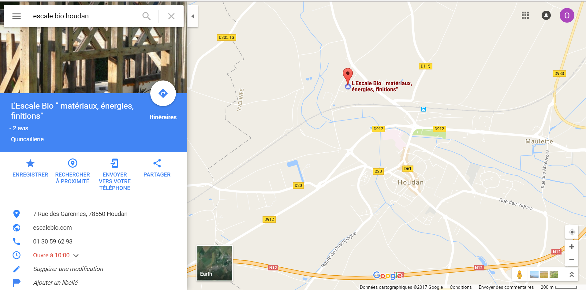 Position magasin plancher chauffant Escale Bio près de Dreux