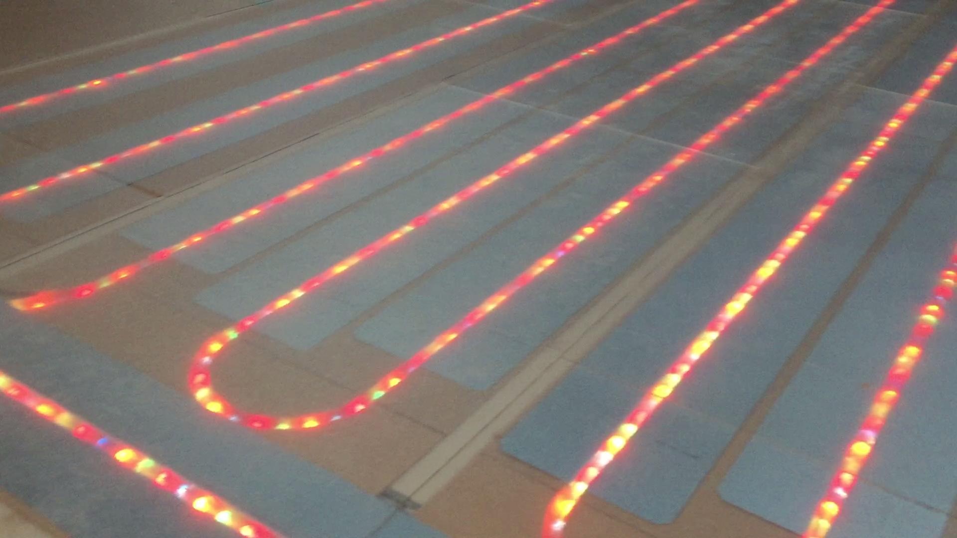 Plancher chauffant sec : la PLV lumineuse