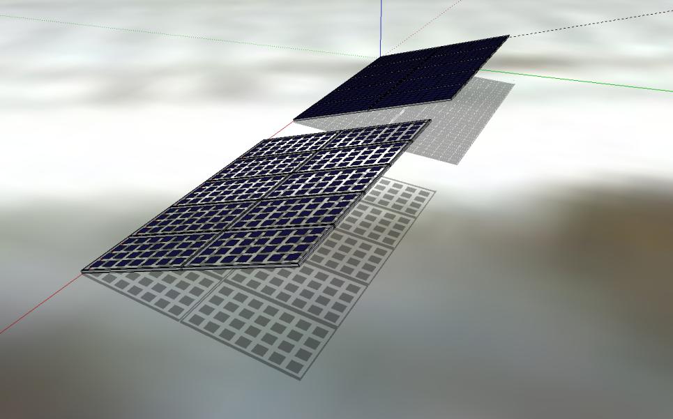Image Bisol: impact du panneau transparent pour brise-soleil