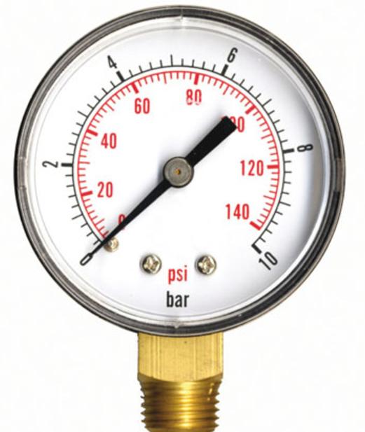 Manomètre 10 bars pour le test à la pression