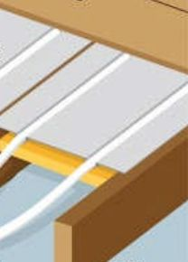 Plancher chauffant rayonnant posé entre solives , épaisseur 0