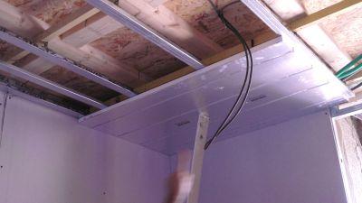 Rénovation de plafond avec un plafond chauffant