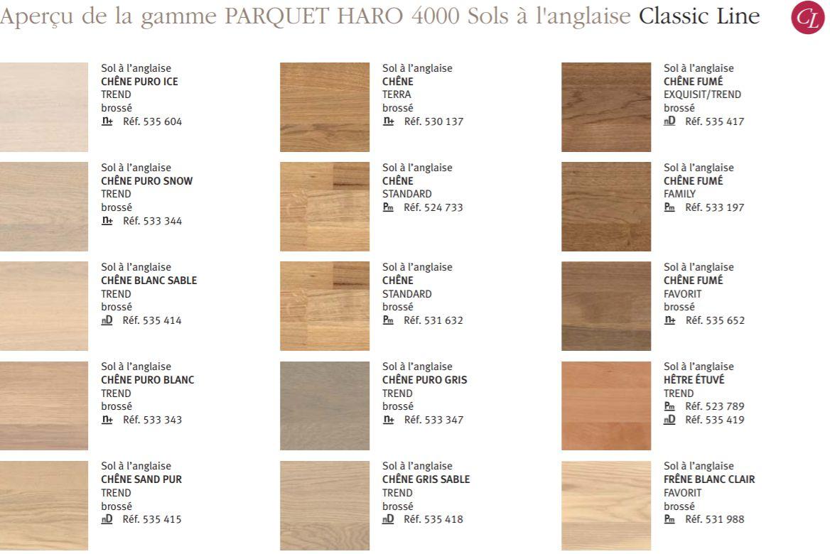parquet haro l 39 anglaise serie 4000 pour plancher chauffant. Black Bedroom Furniture Sets. Home Design Ideas