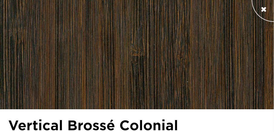 Parquet moso vertical brosse colonial