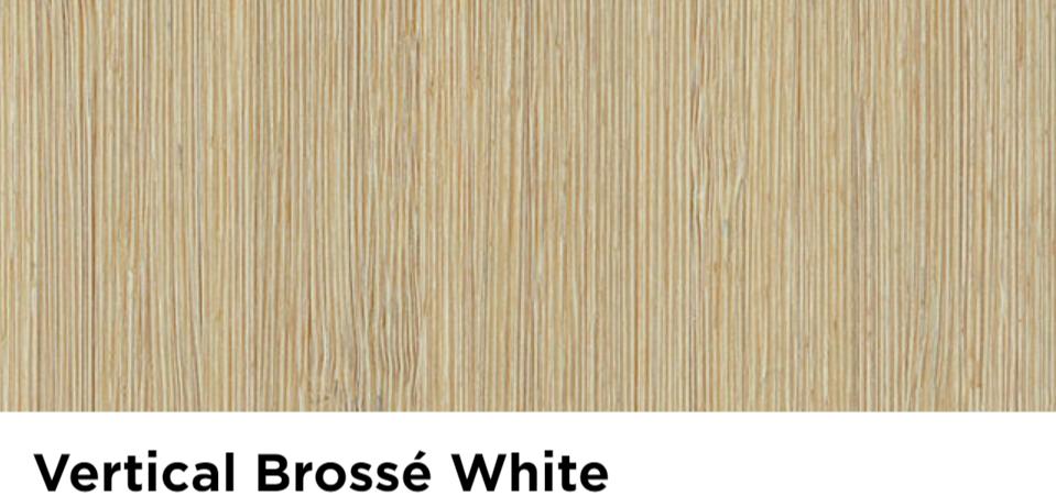 Parquet moso vertical white brosse verni