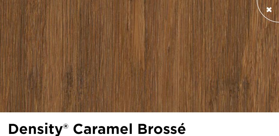 Parquet moso density caramel brosse verni