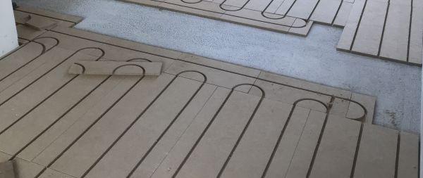 Pose d'un plancher chauffant Caeosol par CagnElec SARL à Tours