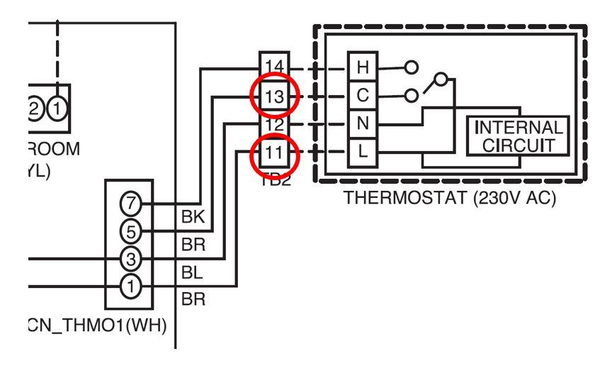 Schema de la pompe à chaleur pour installer une régulation temporelle
