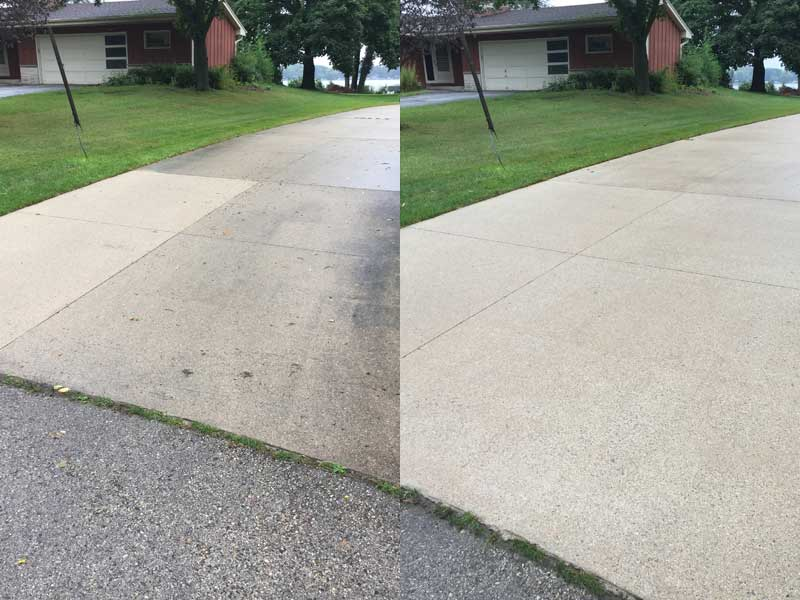 Driveway cleaning review from resident of Waukesha