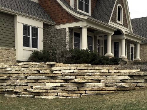 Residential Landscaping Wall and Retainer Wall Cleaning in Waukesha