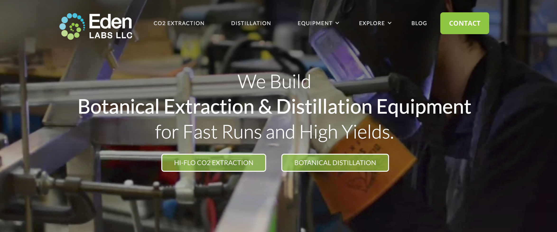 Eden Labs | Supercritical CO2 Extraction Equipment