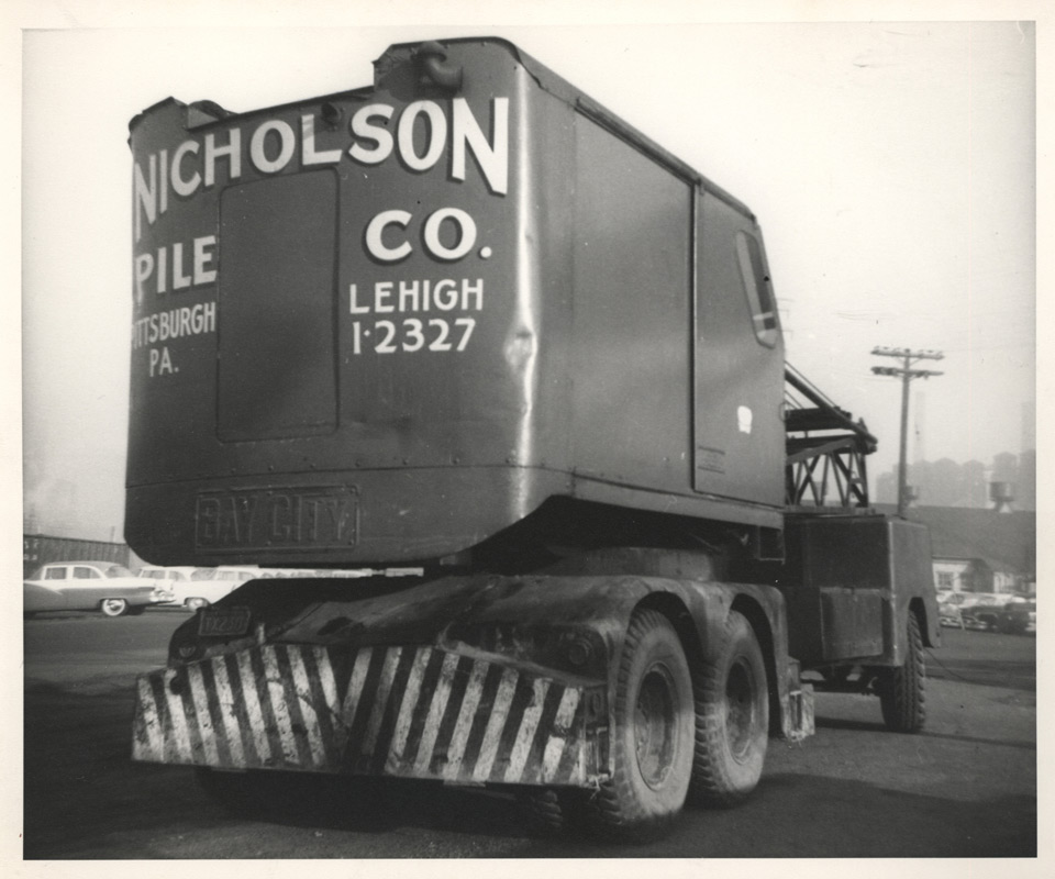 Nicholson operated as a regional pile driving company in the 1950s