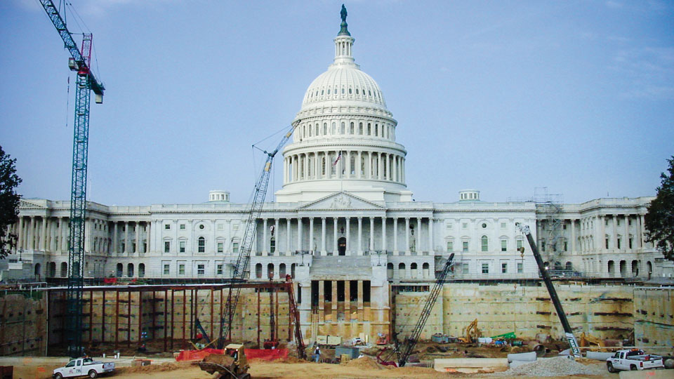 Nicholson constructed a diaphragm wall at the U.S. Capitol Visitor Center