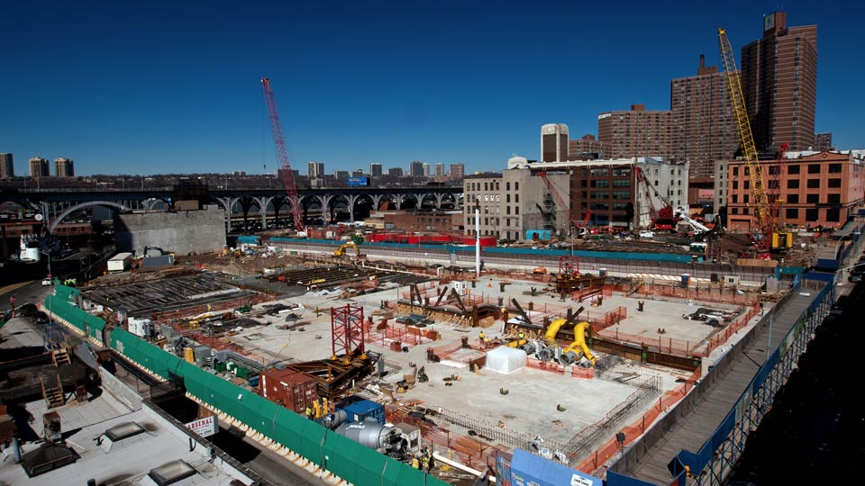 Nicholson installed a diaphragm wall to support Columbia University's Manhattanville Development